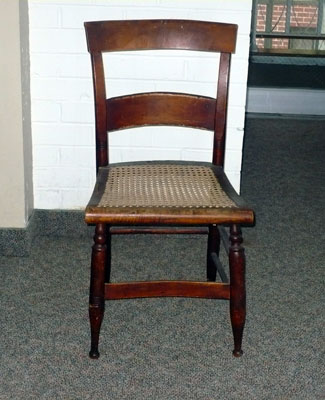 Dining Chair, C. 1850  Richmond, Virginia Hand Caned Seat