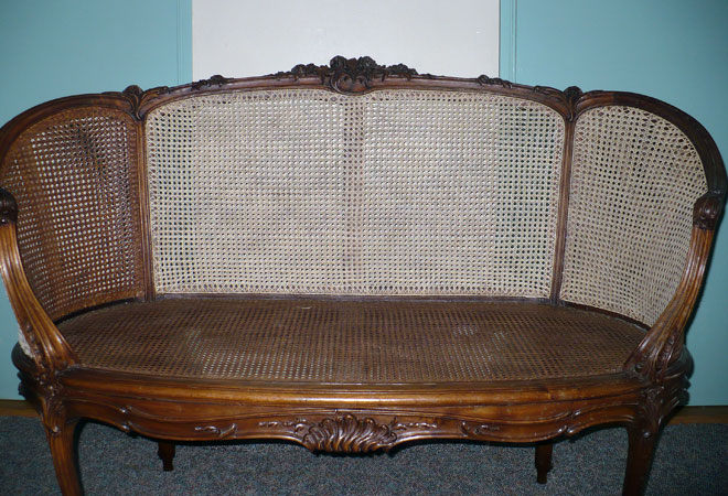 Restored caning on back; will be colored to match the older cane & Su0026C Caning - brightonchaircaning.com - Antique Chair Furniture ...